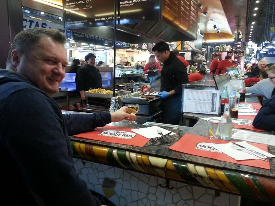 Andy at La Boqueria